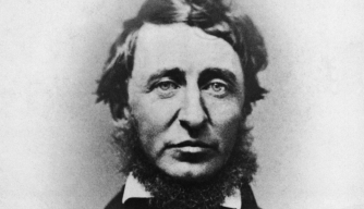 Henry D. Thoreau in portrait, undated photograph. (Credit: Bettmann/Getty Images)