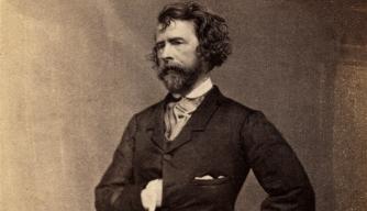 Writer and journalist Nathaniel Parker Willis, 1855. (Credit: adoc-photos/Corbis via Getty Images)