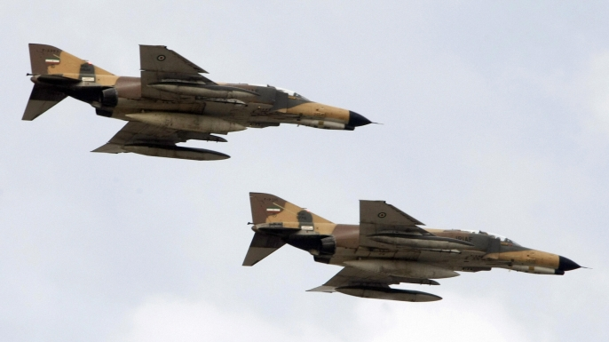 Iran F-4 fighter jets. (Credit: Behrouz Mehri/AFP/Getty Images)