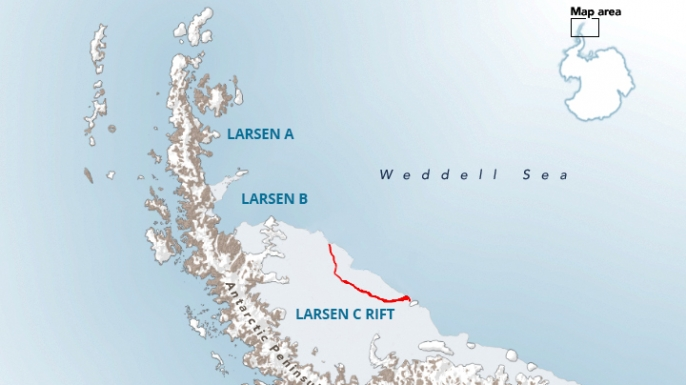 The Larsen Ice Shelf in Antarctica