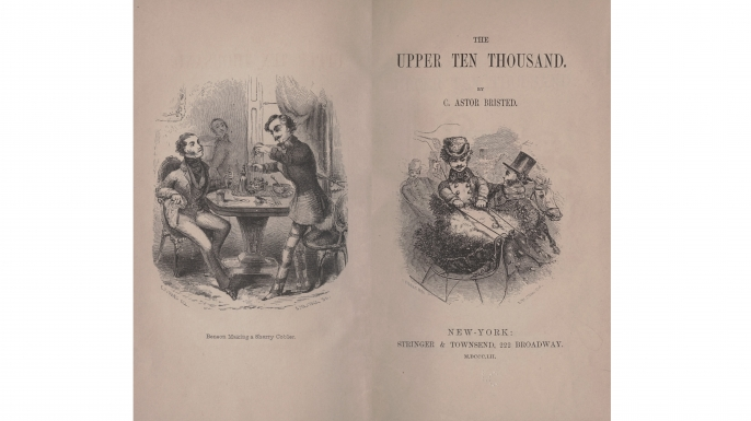 """Charles Astor Bristed's book, """"The Upper Ten Thousand"""". (Credit: The Library of Congress)"""