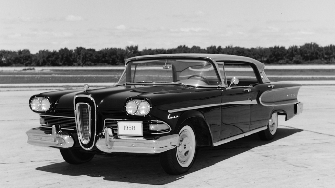 1958 Edsel Corsair for Motor Life Magazine. (Credit: Ken Fermoyle/The Enthusiast Network/Getty Images)