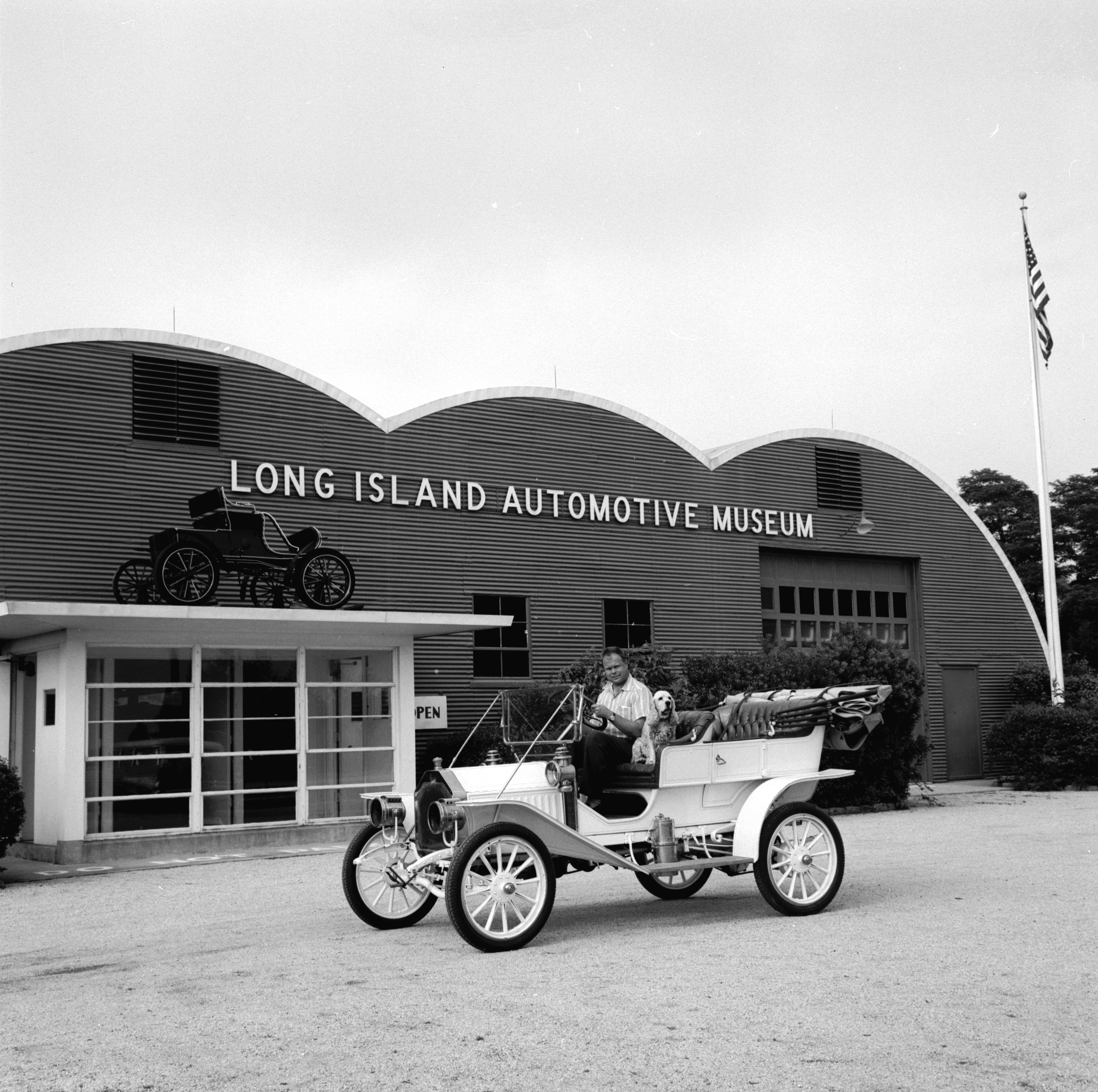 A Buick Model 10 Outside The Long Island Automotive Museum In New York  State, 1950s