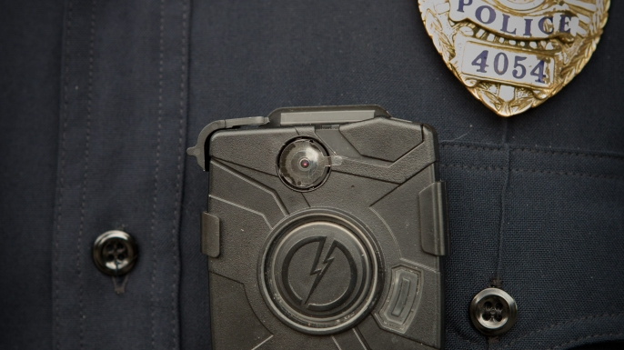 Police body camera. (Credit: Frank Duenzl/Picture-Alliance/DPA/AP Images)