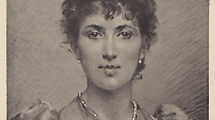 Portrait of Agnes B Marshall.