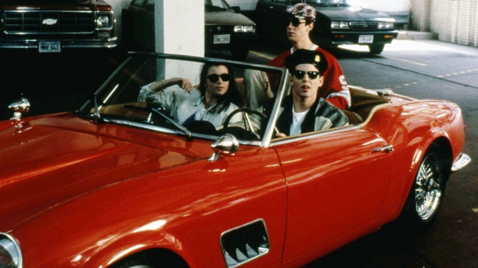 Mia Sara, Matthew Broderick and Alan Ruck in Ferris Bueller's Day Off.