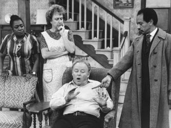 "Isabel Sanford (left) and Sherman Hemsley (right) guest starring on ""All in the Family,"" before the premiere of their popular spin-off, ""The Jeffersons."" ("