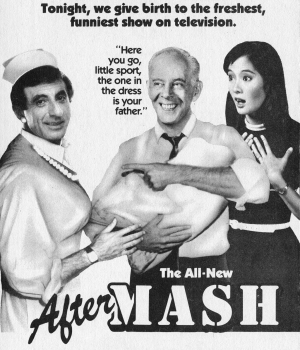 "CBS Television advertisement for the 1984 premiere of ""AfterMASH."""