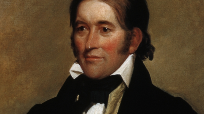 Portrait of Davy Crockett. (Credit: Barney Burstein/Corbis/VCG via Getty Images)