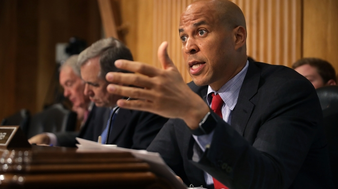 Senator Cory Booker.  (Credit: Chip Somodevilla/Getty Images)