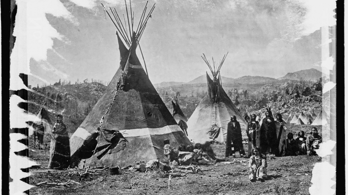 Members of the Shoshone tribe in the late 19th century. (Credit:  The Library of Congress)