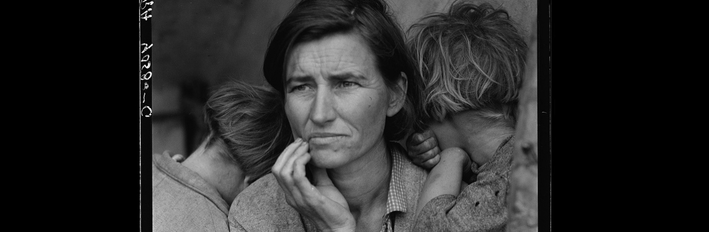 Migrant Mother, by Dorothea Lange. (Credit: The Library of Congress)