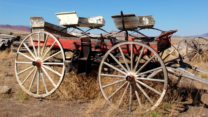 Old Wild West stagecoach. (Credit: Stuart Kelly/Alamy Stock Photo)