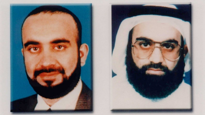 FBI composite photo of Khalid Sheikh Mohammed, released by the U.S. in October 2001.