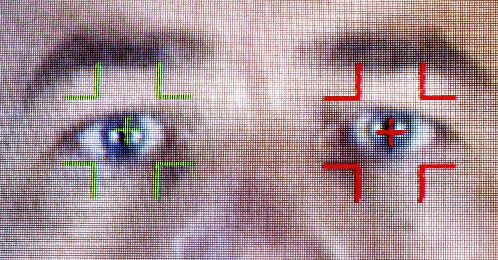 Facial-recognition programs, like this one demonstrated during the Biometrics exhibition and conference in London in 2004, make it harder for the CIA's undercover operatives to travel under false identities. (Credit: Ian Waldie/Getty Images)