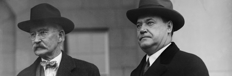 Albert Fall and Harry Sinclair. (Credit: Bettmann/Getty Images)