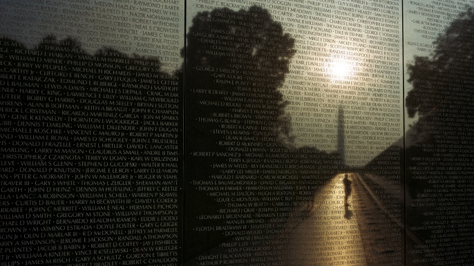 The Vietnam Veterans Memorial in Washington DC.  (Credit: In Pictures Ltd./Corbis via Getty Images)