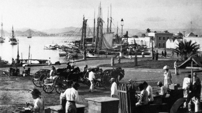 View of the port of San Juan at the beginning of the 20th century. (Credit: KEYSTONE-FRANCE/Gamma-Rapho via Getty Images)