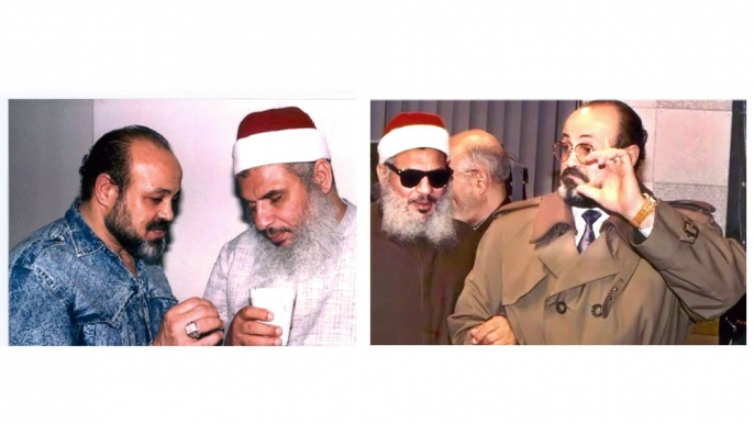 FBI undercover asset Emad Salem with the Blind Sheik Omar Abdel Rahman, leader of the first al-Qaeda terror cell on U.S. soil. Salem, who has military experience and martial-arts expertise, gained the trust of the terror cell's leader and became his bodyguard. (Courtesy of Emad Salem)