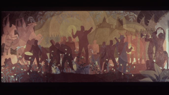 Aspects of Negro Life by Aaron Douglas. (Credit: The New York Public Library)