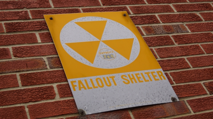 Fallout shelter sign. (Credit: Marc Nozell/Flickr Creative Commons/CC BY 2.0)