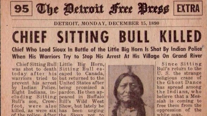 The death of Sitting Bull makes the paper. (Credit: Library of Congress)
