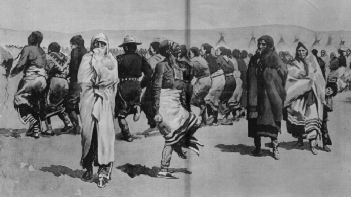 The Ghost Dance. (Credit: Library of Congress)