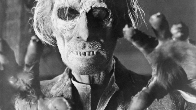 "Peter Cushing returns from the grave in ""Tales From the Crypt,"" 1972. (Credit: Bettmann/Getty Images)"