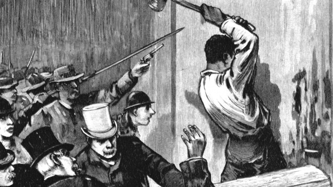 11 Italian Americans were held liable by lynching for the killing of David C. Hennessy police chief town. (Credit: SeM/UIG via Getty Images)
