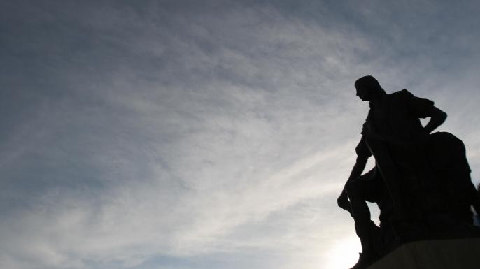 A statue of Christopher Columbus at Palos de la Frontera in Huelva. (Credit: CRISTINA QUICLER/AFP/Getty Images)