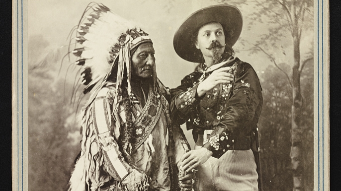 Sitting Bull and Buffalo Bill. (Credit: The Library of Congress)