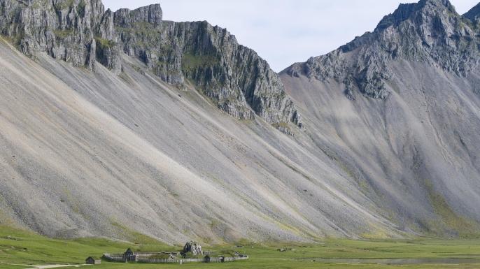 Replica of a Viking village near Hoefn, East Iceland, Iceland. (Credit: Olaf Kruger/imageBROKER/REX/Shutterstock)