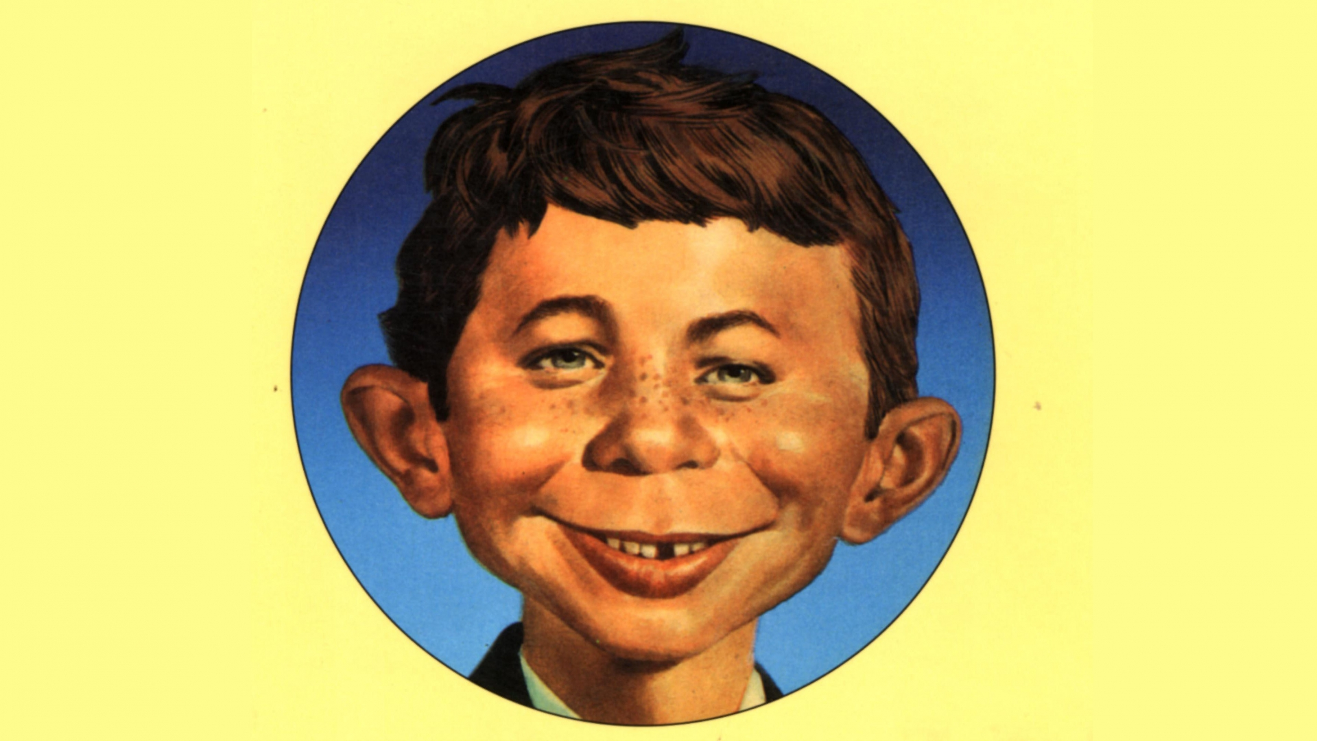 Alfred E. Neumann was the mascot of the satirical Mad magazine, popular in the 1960s. (Credit: The Advertising Archives/Alamy Stock Photo)