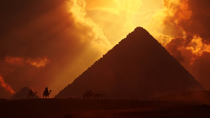 The Great Pyramid of Giza at sunset, Egypt. (Credit: Prasit Chansareekorn/Getty Images)