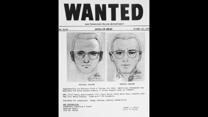 San Francisco police circulated this composite of the Bay Area's Zodiac Killer. (Credit: Bettmann/Getty Images)