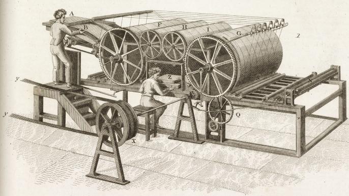 Thomas Bensley's printing press. (Credit: SSPL/Getty Images)