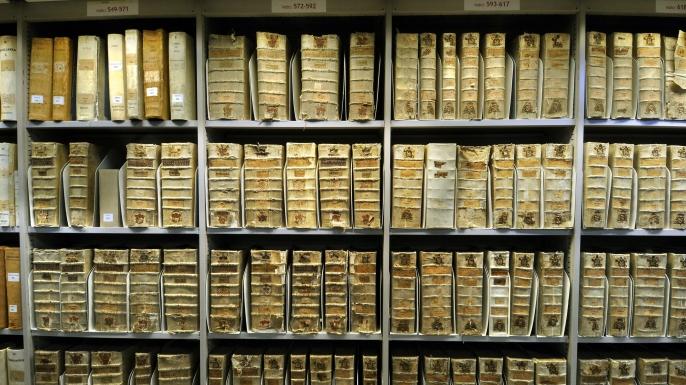 Interior of the Vatican Secret Archives. (Credit: Rex Features via AP Images)