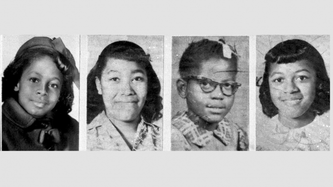 Victims of the Sixteenth Street Baptist Church bombing on Sept. 15, 1963: Denise McNair, 11; Carole Robertson, 14; Addie Mae Collins, 14;  and Cynthia Wesley, 14. (Credit: AP Photo)