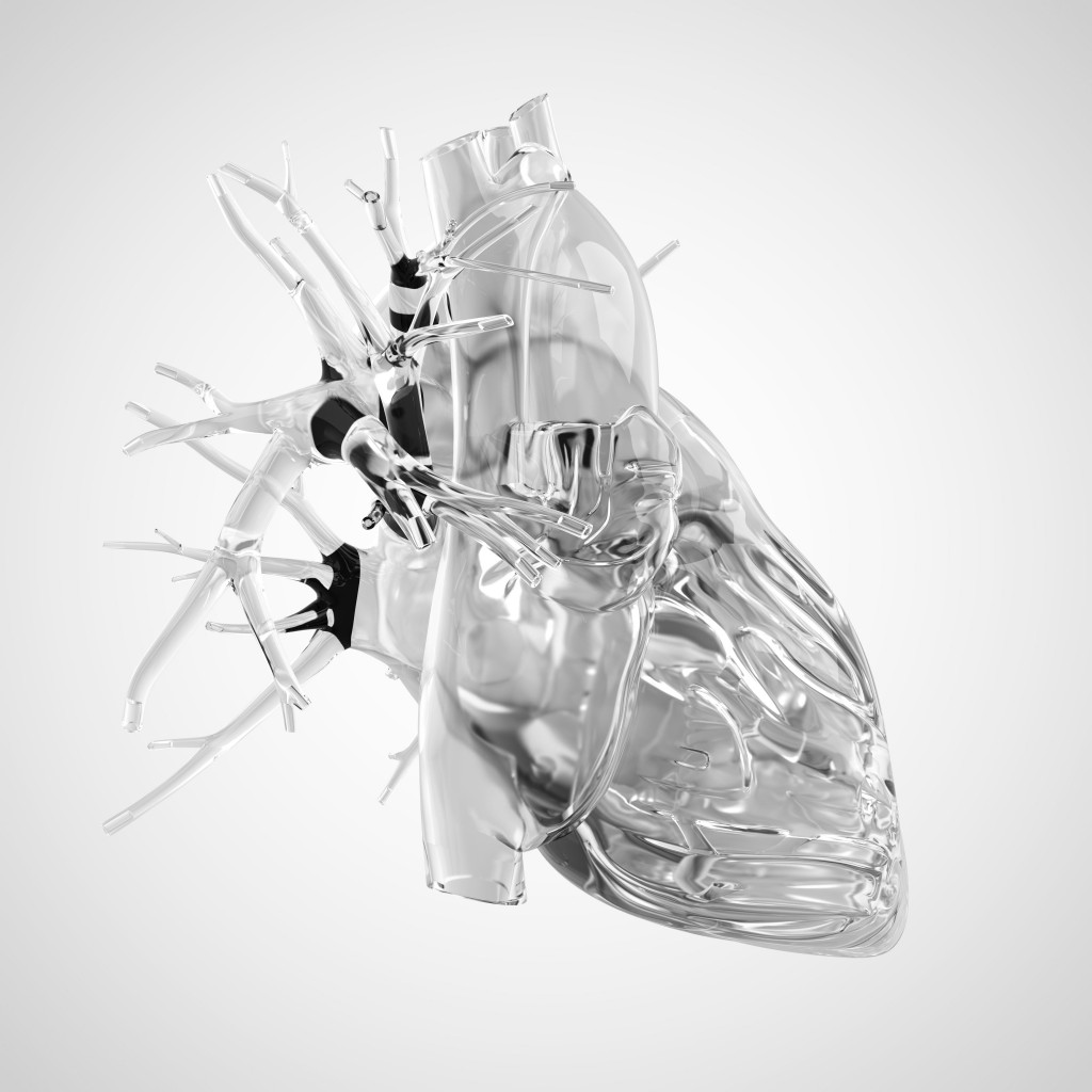 Human heart made of glass. (Credit: Sebastian Kaulitzki/Alamy Stock Photo)