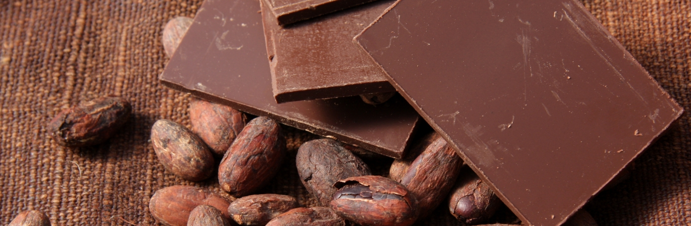 Chocolate and cocoa beans. (Credit: Lenazap/Getty Images)