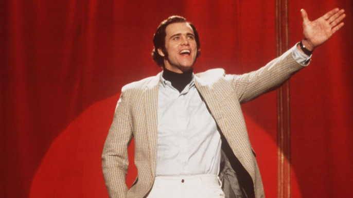 """Jim Carrey as Andy Kaufman in the 1999 movie """"Man on the Moon"""", the subject of the new documentary Jim & Andy: The Great Beyond. (Credit: Universal Studios/Getty Images)"""