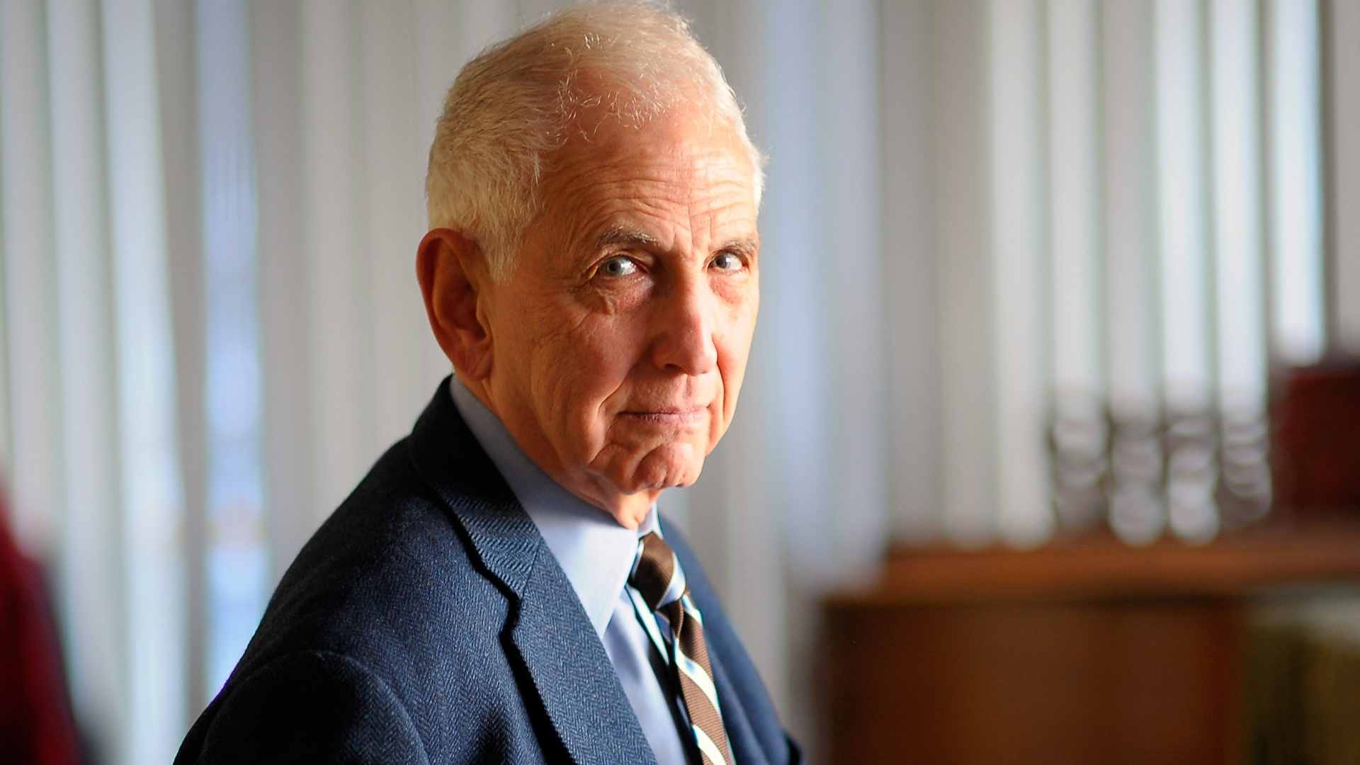 Daniel Ellsberg, known for releasing the Pentagon Papers, photographed for the Post in 2010. (Credit: John McDonnell/The Washington Post via Getty Images)