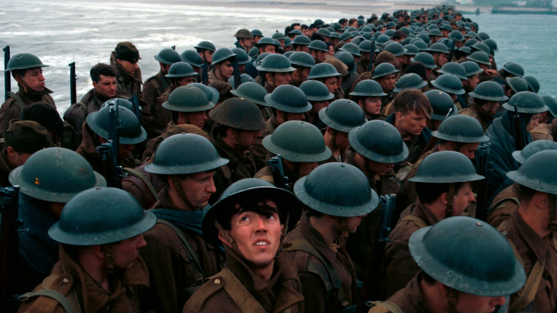 Dunkirk, the epic war thriller written, co-produced, and directed by Christopher Nolan set in the Second World War around the Dunkirk evacuation. (Credit: Warner Bros/Lifestyle Pictures/Alamy Stock Photo)