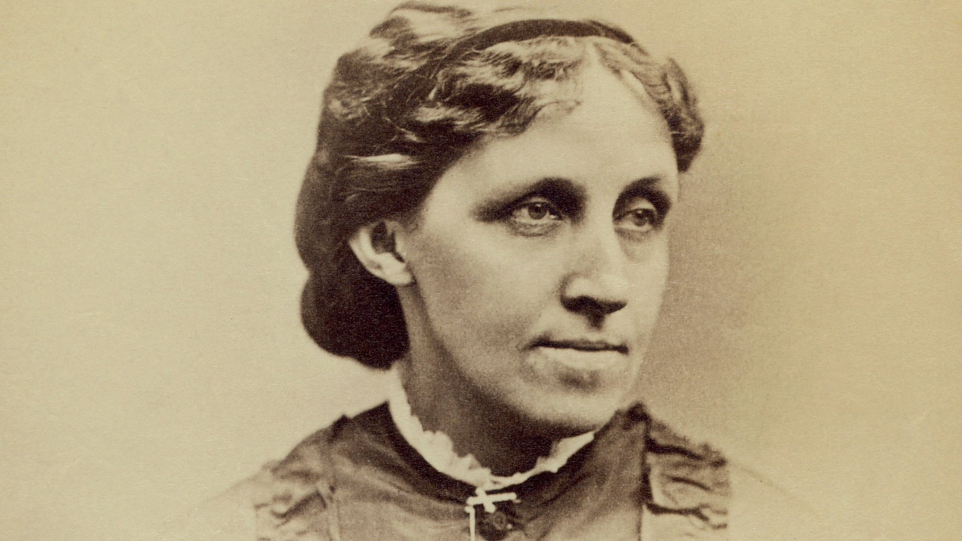 Louisa May Alcott, circa 1870. (Credit: Glasshouse Images/Alamy Stock Photo)