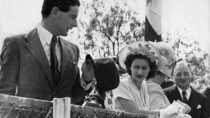 Peter Townsend and Princess Margaret, 1955.