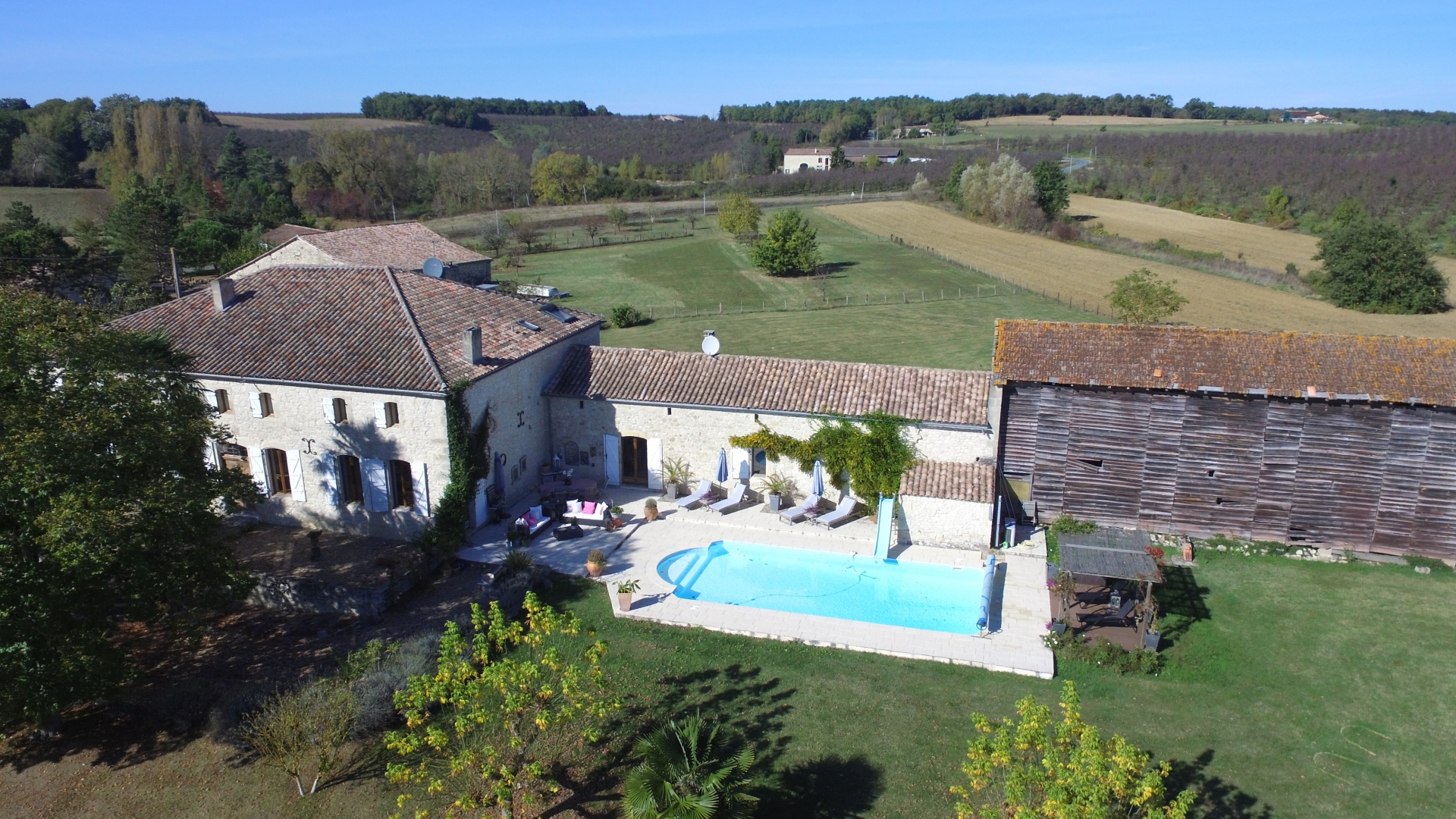 Chateau near Duras. ASKING PRICE: €999,000 ($1.18 million). TEMPLAR TOUCH: Rumors of Knights Templar treasure buried on the property in 1307. SELLING POINTS NOW: Seven bedrooms, separate attached building with guest accommodations, heated swimming pool, tobacco barn and a small vineyard.   (Photo courtesy of Maxwell-Baynes)