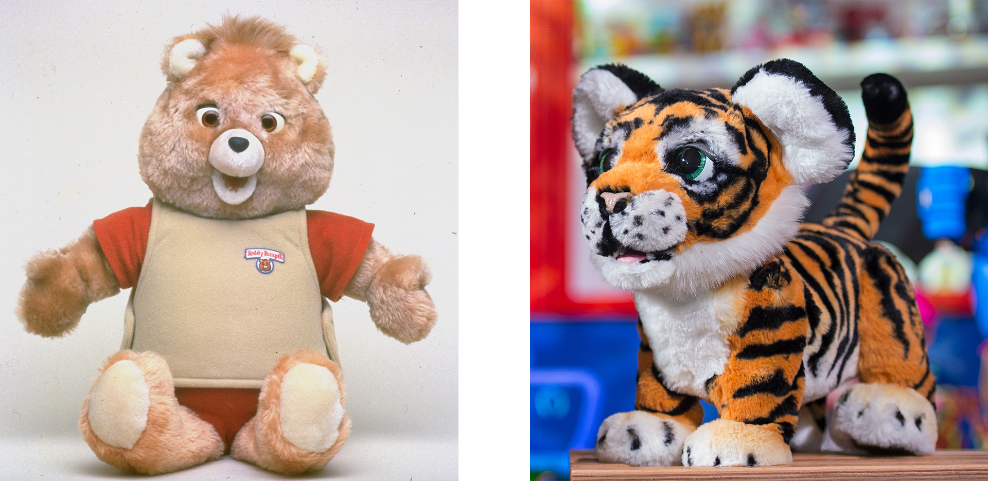 Teddy Ruxpin (Credit: James Keyser/The LIFE Images Collection/Getty Images) and Roarin' Tyler (Credit: Victoria Jones/PA Images via Getty Images)