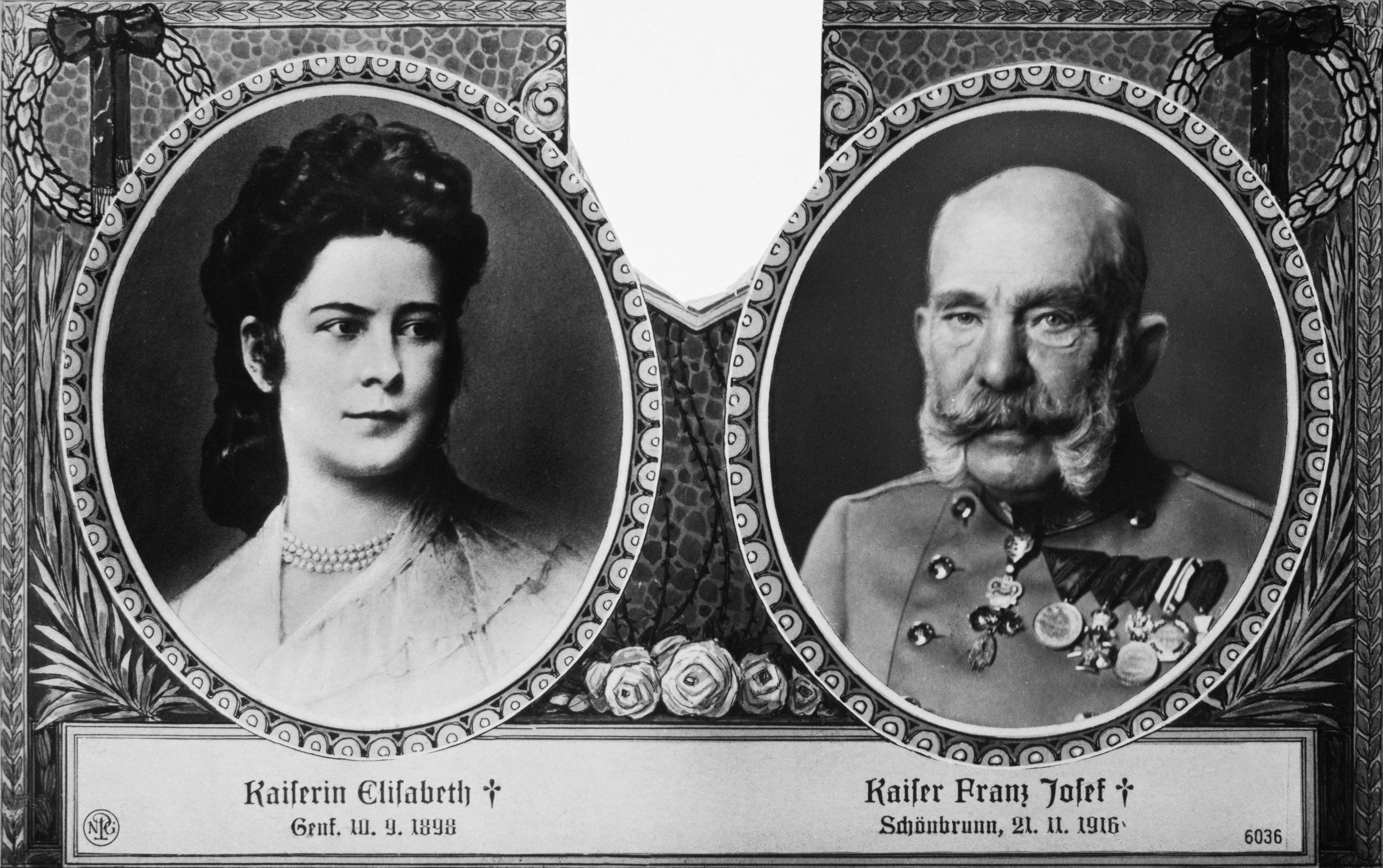 Emperor Franz Joseph, and his wife Empress Elisabeth, of Austria. (Credit: DeAgostini/Getty Images)