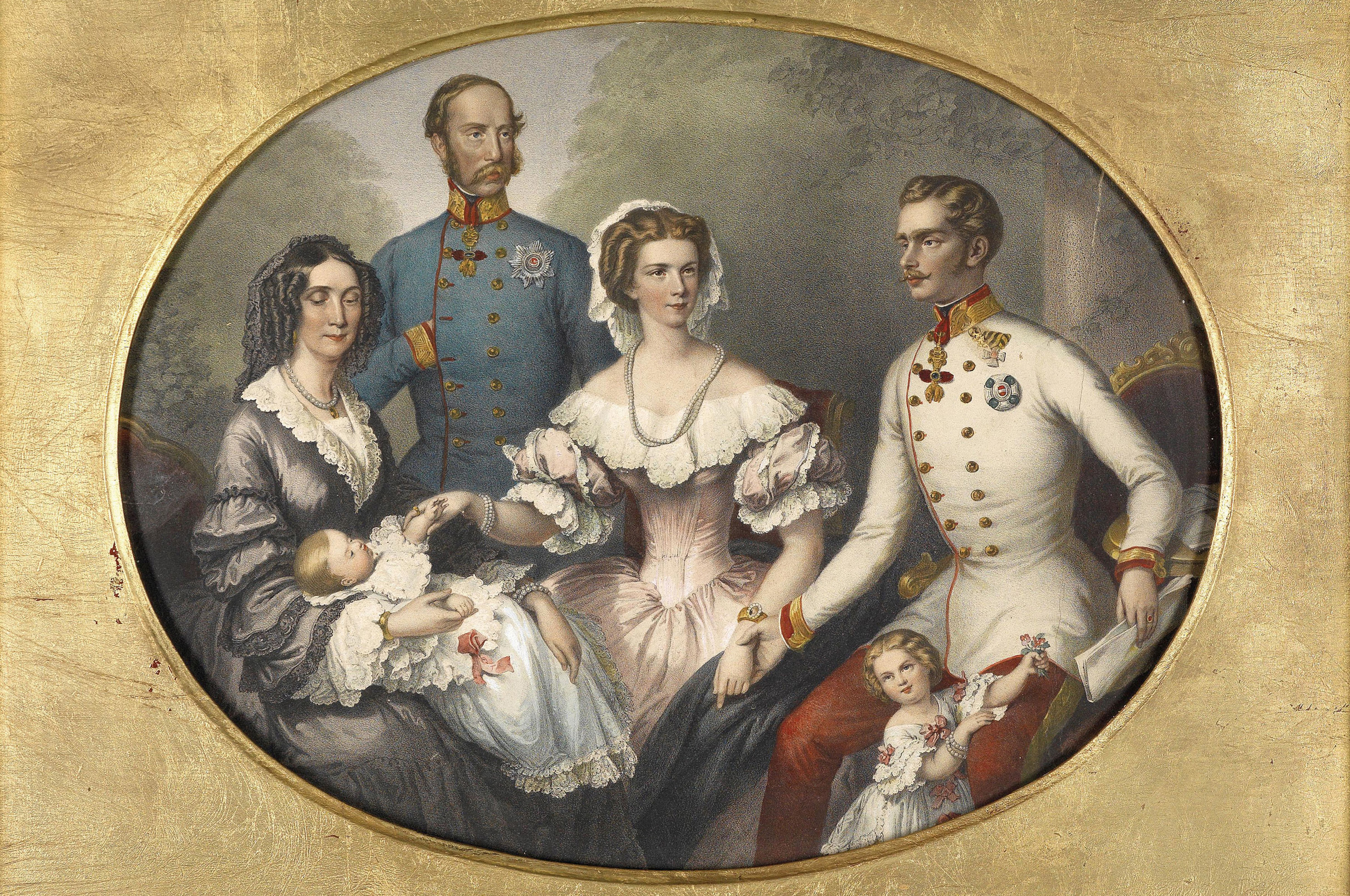 The Emperor family of Austria, circa 1856. (Credit: Fine Art Images/Heritage Images/Getty Images)