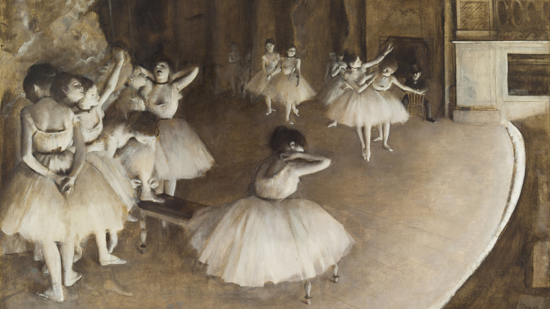 'Rehearsal on the Stage' by Edgar Degas, 1874. (Credit: Fine Art Images/Heritage Images/Getty Images)